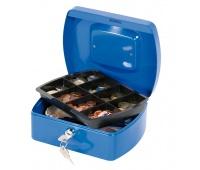 Cash Box Q-CONNECT, medium, 205x85x160mm, blue