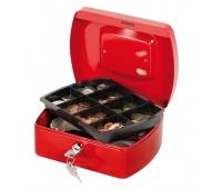 Cash Box Q-CONNECT, medium, 205x85x160mm, red