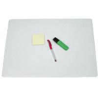 Podkładka na biurko Q-CONNECT, 63x50cm, transparentna, Podkładki na biurko, Wyposażenie biura