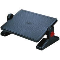 Footrest Q-CONNECT, adjustable (x2), 400x70x350mm, black