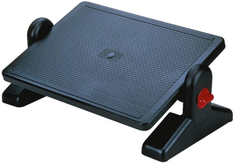 Podnóżek Q-CONNECT, z regulacją (x2), 450x310mm, czarny, Podnóżki i taborety, Wyposażenie biura