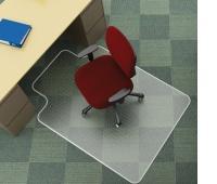 Under Chair Mat Q-CONNECT, carpet protection, 120x90cm, T-shape