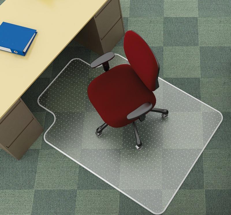 Mata pod krzesło Q-CONNECT, na dywany, 120x90cm, kształt T, Maty, Wyposażenie biura