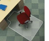Under Chair Mat Q-CONNECT, carpet protection, 134x115cm, T-shape