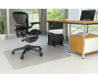 Mata pod krzesło Q-CONNECT, na podłogi twarde, 120x90cm, kształt T, Maty, Wyposażenie biura