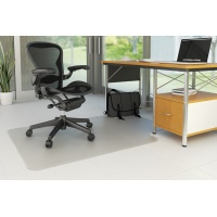 Under Chair Mat Q-CONNECT, hard floor, 120x90cm, T-shape