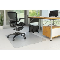 Mata pod krzesło Q-CONNECT, na podłogi twarde, 150x120cm, prostokątna, Maty, Wyposażenie biura