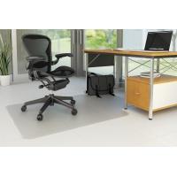 Under Chair Mat Q-CONNECT, hard floor, 134x115cm, T-shape