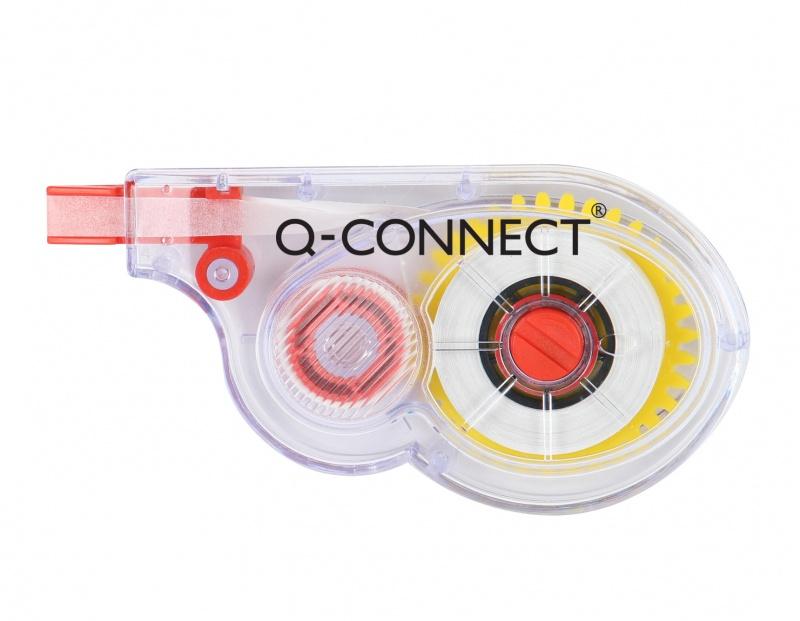 Korektor w taśmie Q-CONNECT, myszka, jednorazowy, 5mmx8m, Korektory, Artykuły do pisania i korygowania