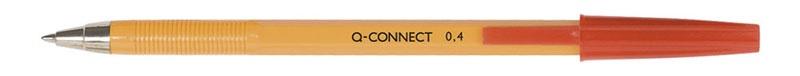 Długopis Q-CONNECT z wymiennym wkładem 0,4mm (linia), czerwony