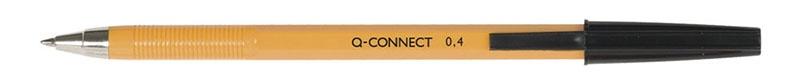 Długopis Q-CONNECT z wymiennym wkładem 0,4mm (linia), czarny