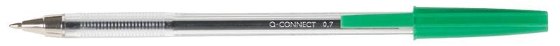 Długopis Q-CONNECT z wymiennym wkładem 0,7mm (linia), zielony