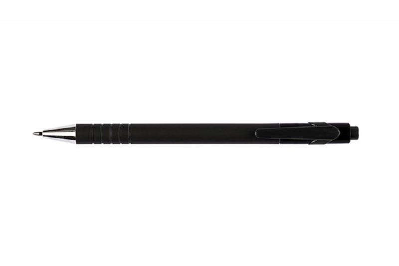 Długopis automatyczny Q-CONNECT LAMBDA, 0,7mm, czarny, Długopisy, Artykuły do pisania i korygowania