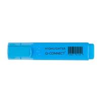 Zakreślacz fluorescencyjny Q-CONNECT, 1-5mm (linia), niebieski, Textmarkery, Artykuły do pisania i korygowania
