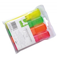 Zakreślacz fluorescencyjny Q-CONNECT, 1-5mm (linia), 4szt., mix kolorów, Textmarkery, Artykuły do pisania i korygowania