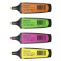 Zakreślacz fluor. Q-CONNECT Premium, 2-5mm (linia), 4szt., mix kolorów, Textmarkery, Artykuły do pisania i korygowania