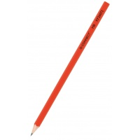 Wooden Pencil Q-CONNECT HB, lacquered, red