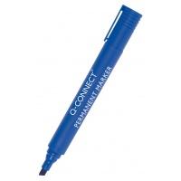 Marker permanentny Q-CONNECT, ścięty, 3-5mm (linia), niebieski, Markery, Artykuły do pisania i korygowania