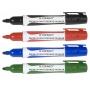 Marker do tablic Q-CONNECT Premium, gum. rękojeść, okrągły, 2-3mm (linia), niebieski, Markery, Artykuły do pisania i korygowania