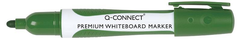 Marker do tablic Q-CONNECT Premium, gum. rękojeść, okrągły, 2-3mm (linia), zielony, Markery, Artykuły do pisania i korygowania