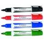 Marker do tablic Q-CONNECT Premium, gum. rękojeść, okrągły, 2-3mm (linia), 4szt., mix kolorów, Markery, Artykuły do pisania i korygowania