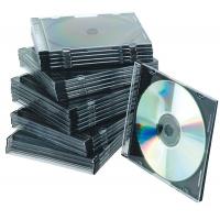 Pudełko na płytę CD/DVD Q-CONNECT, slim, 25szt., przeźroczyste, Pudełka i opakowania na CD/DVD, Akcesoria komputerowe