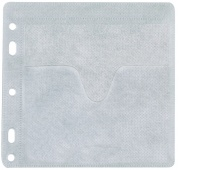 CD Envelopes for 2 CD/DVD Q-CONNECT, clipped, 40pcs, white