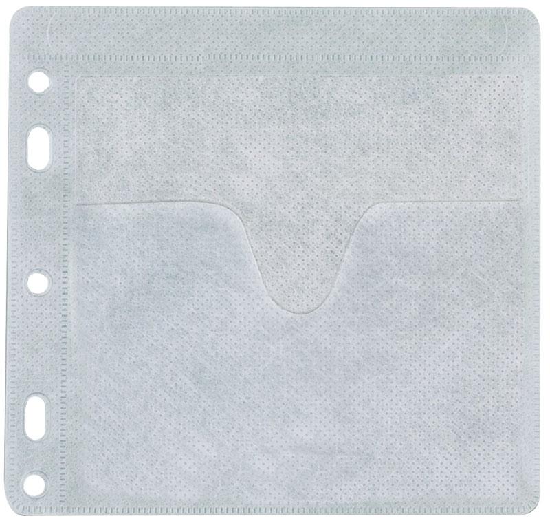 Koperty na 2 płyty CD/DVD Q-CONNECT, do wpinania, 40szt., białe, Pudełka i opakowania na CD/DVD, Akcesoria komputerowe