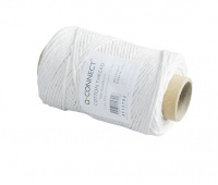 Cotton Thread Q-CONNECT, waxed, 100g, 80m, grey