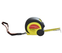 Measuring Tape, rolled, 19mmx5m, black-yellow