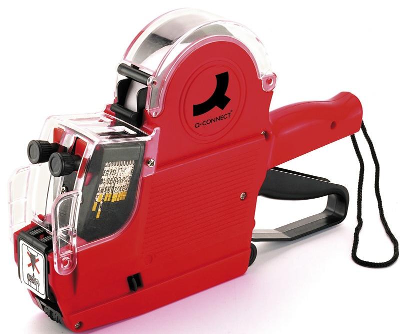 Metkownica Q-CONNECT, dwurzędowa, 10 znaków, czerwona, Metkownice, Urządzenia i maszyny biurowe