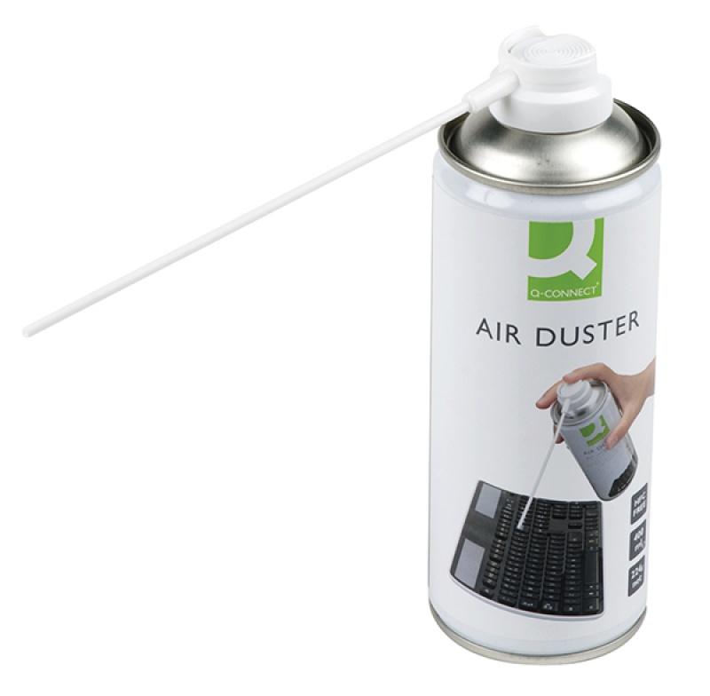 Sprężone powietrze Q-CONNECT, palne, 400ml, Środki czyszczące, Akcesoria komputerowe