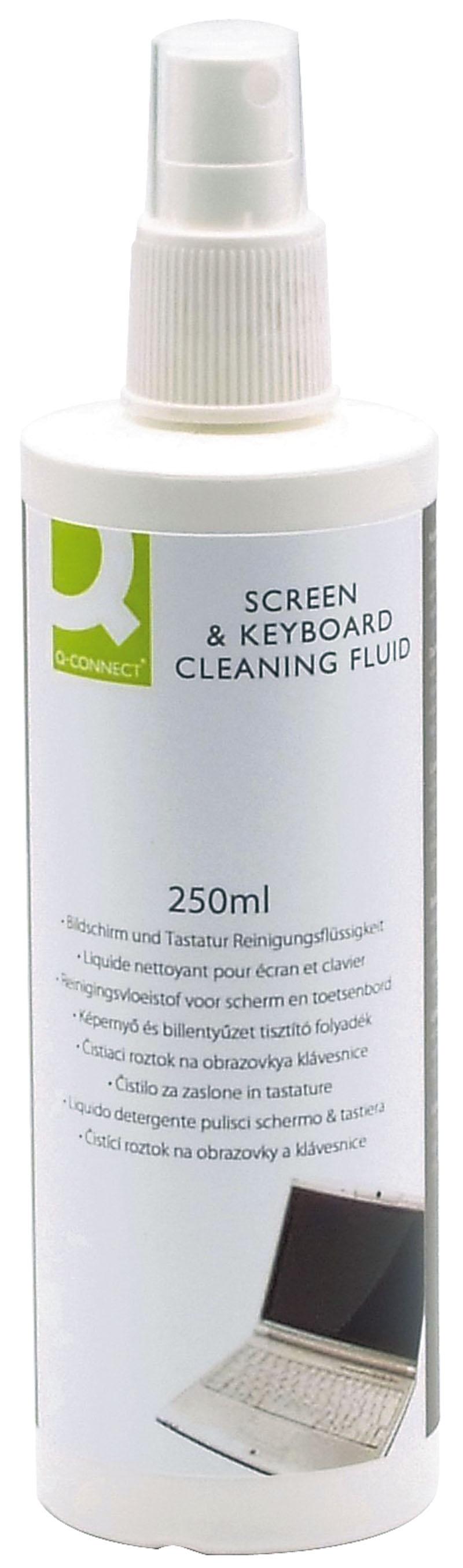 Spray do czyszczenia ekranów TFT/LCD/LED i klawiatur Q-CONNECT, 250ml, Środki czyszczące, Akcesoria komputerowe