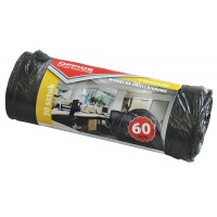 Waste Bin Liners OFFICE PRODUCTS, standard (HDPE), 60l, 50pcs, black