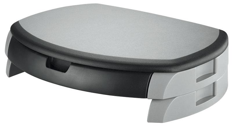 Podstawa pod monitor Q-CONNECT, z szufladą, 450x113x315mm, czarno-szara, Ergonomia, Akcesoria komputerowe
