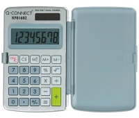 Calculator Q-CONNECT, 10-digit, 60x101mm, case, grey