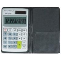 Kalkulator kieszonkowy Q-CONNECT, 10-cyfrowy, 73x118mm, etui, szary