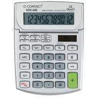 Kalkulator biurkowy Q-CONNECT 12-cyfrowy, 102x140mm, szary, Kalkulatory, Urządzenia i maszyny biurowe