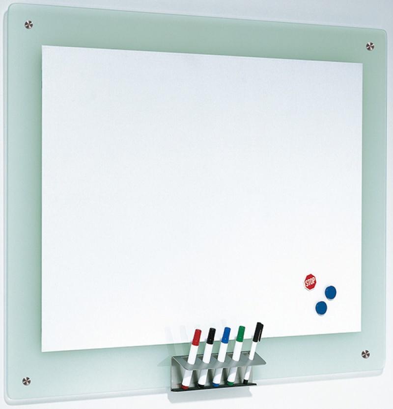 Tablica magnetyczna FRANKEN, 106x77cm, rama szklana, Tablice suchościeralne, Prezentacja
