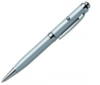 Laser Pointer, FRANKEN, with pen, silver