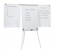 Flipchart Tripod Easel BI-OFFICE, 68x105cm, Magnetic Dry-wipe Board, with Extending Display Arms