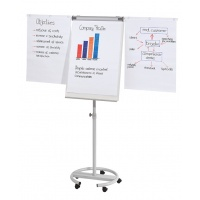 Flipchart Mobile Easel FRANKEN, 68x110cm, Magnetic Dry-wipe Board, with Extending Display Arms