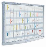 Multipurpose Wall Planner FRANKEN Euroline, dry-wipe/magnetic, 91x60cm