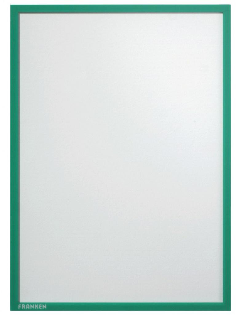 Ramka magnetyczna FRANKEN, A4, zielona, Systemy prezentacyjne, Prezentacja