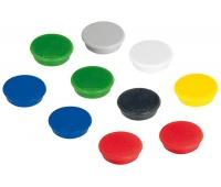 Magnesy FRANKEN, okrągłe, średnica 24mm, 10szt., mix kolorów, Bloki, magnesy, gąbki, spraye do tablic, Prezentacja