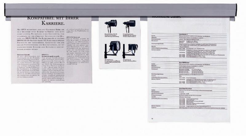 Listwa samoprzylepna do papieru FRANKEN, 50x4cm, szara