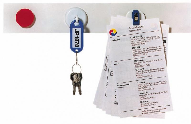 Listwa samop., magnet. FRANKEN, 50x5cm, biała, 2 magnesy GRATIS, Bloki, magnesy, gąbki, spraye do tablic, Prezentacja