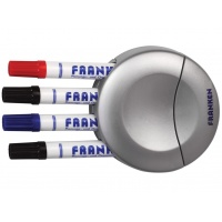 Whiteboard Eraser Sponge FRANKEN, magnetic, integrated marker pen holder
