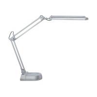 Lampka energooszczędna na biurko MAULatlantic, 11W, srebrna, Lampki, Urządzenia i maszyny biurowe
