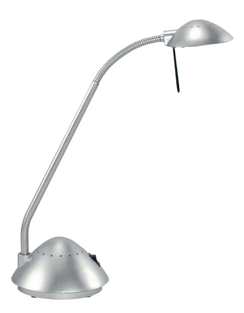 Lampka halogenowa na biurko MAULarc, 20W, srebrna, Lampki, Urządzenia i maszyny biurowe